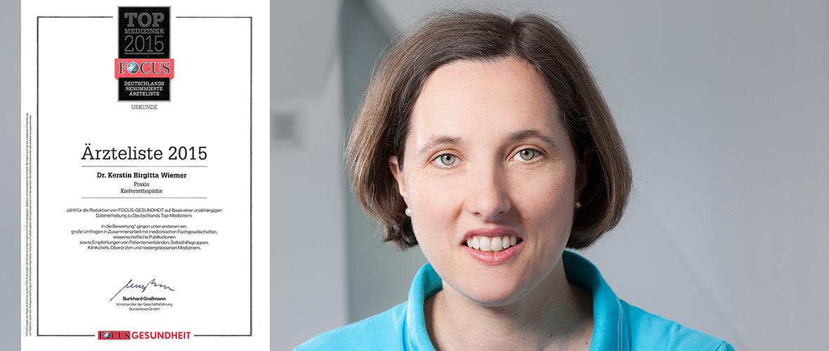 FOCUS-TOP-Mediziner-2015-Dr.-Kerstin-Wiemer (Praxis für Kieferorthopädie) KFO-Karlshorst